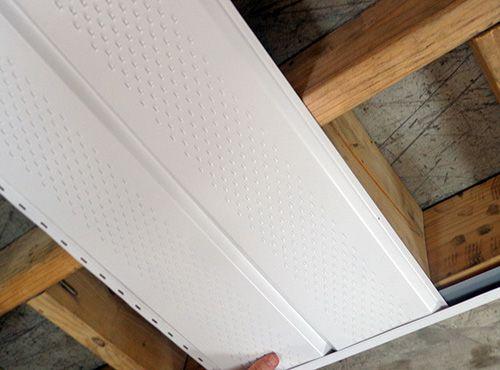 J-channel for soffit panels