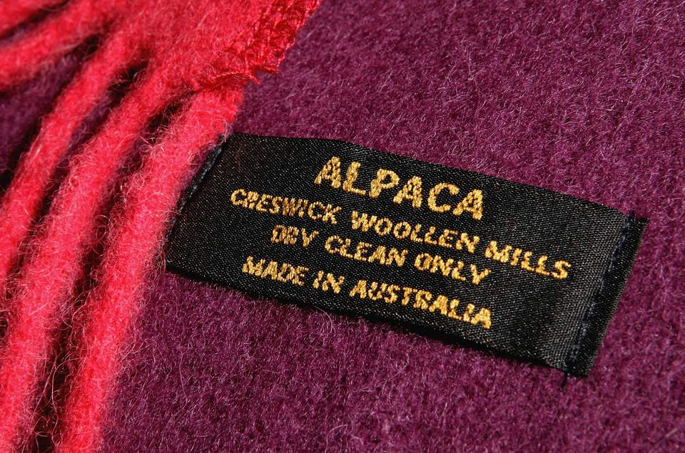 wool care label