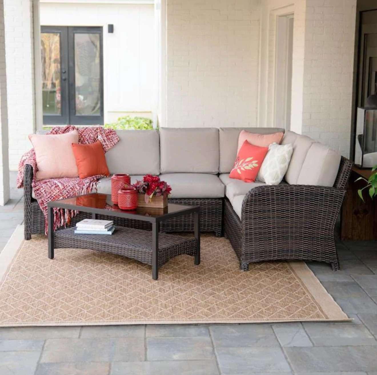 Jackson 5-Piece Metal Frame Patio Conversation Set with Cushions