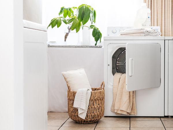 dryer in a laundry room