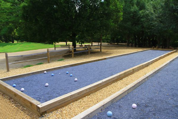 DIY bocce ball courts