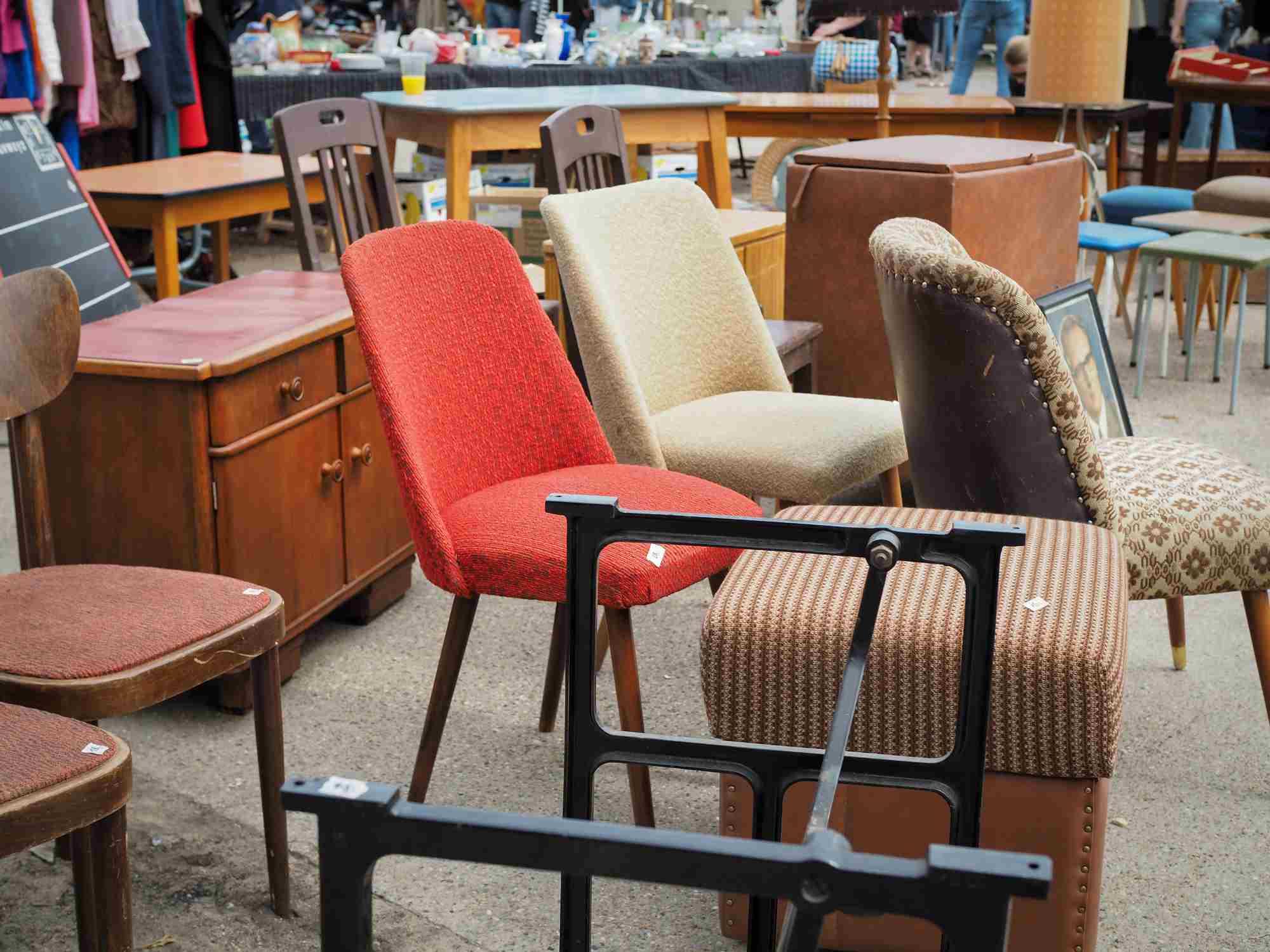 Furniture for Sale at a Flea Market