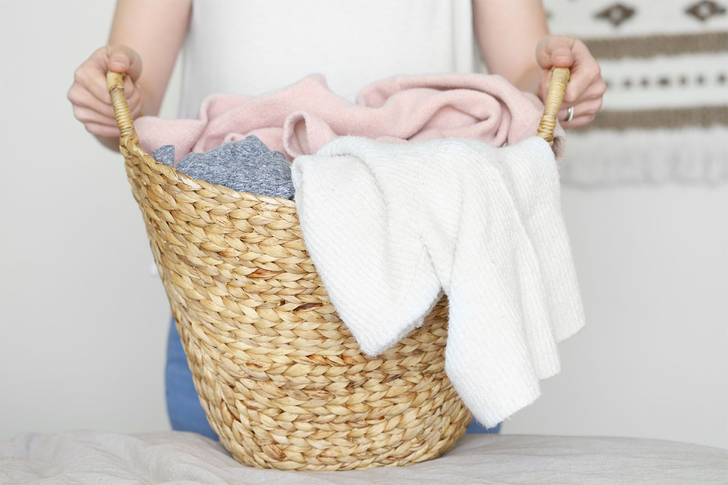 removing clothes from the dryer