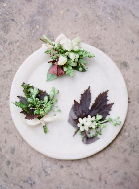 Fall Inspired Wedding Boutonnieres