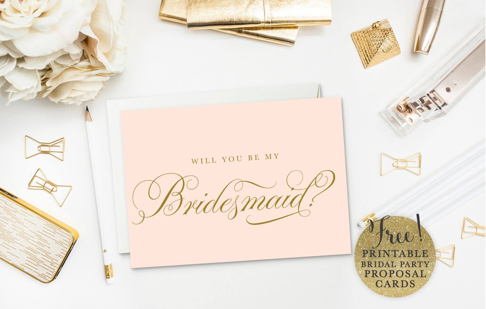 10 Will You Be My Bridesmaid Cards Free Printable