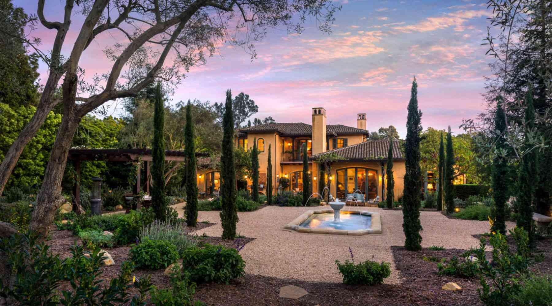 Casa mediterránea Montecito , casas mediterráneas