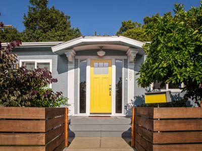 Feng shui yellow west-facing front door