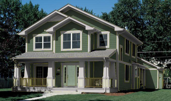 Color de casa verde pino