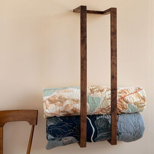 Phillip Stone Minimalist Blanket Storage & Display