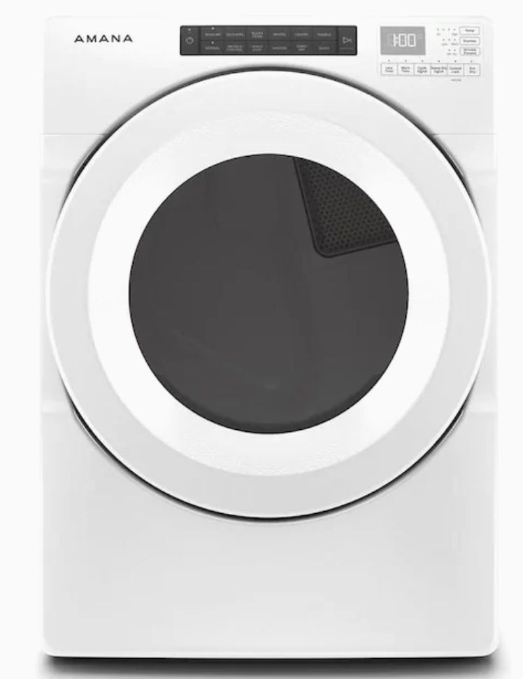 Amana NED5800HW Stackable Electric Dryer with Sensor