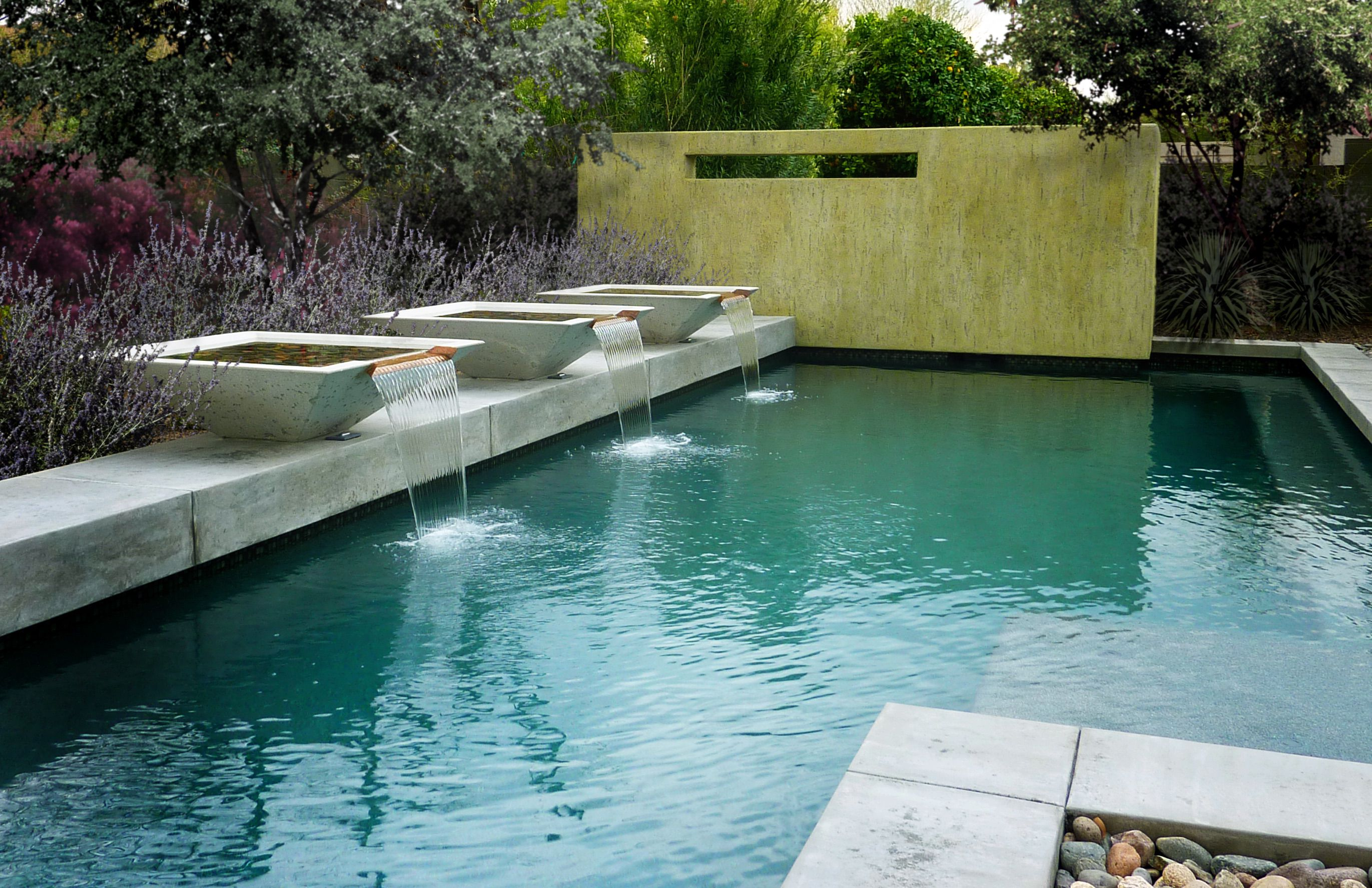Pool water fountains