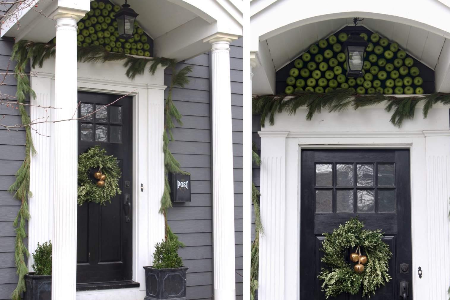Apple inspired Winter Porch