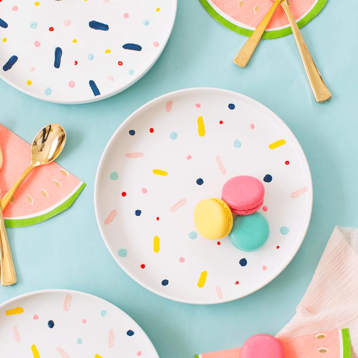 DIY Confetti Pattern Plates