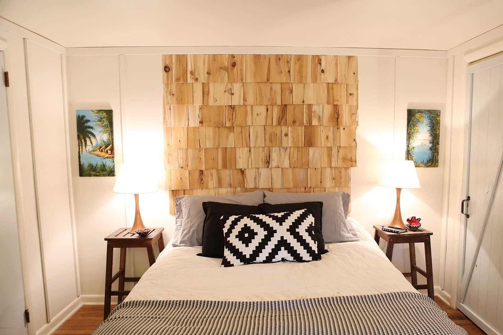 Cedar Shingle DIY headboard