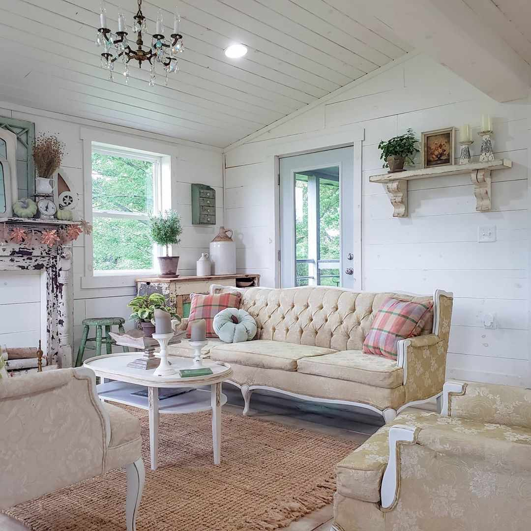 Room with wooden paneling