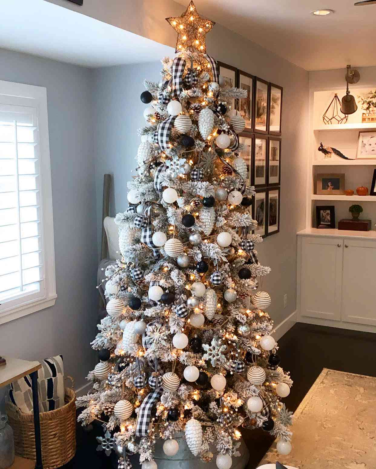 Meg Peacock's buffalo plaid Christmas tree