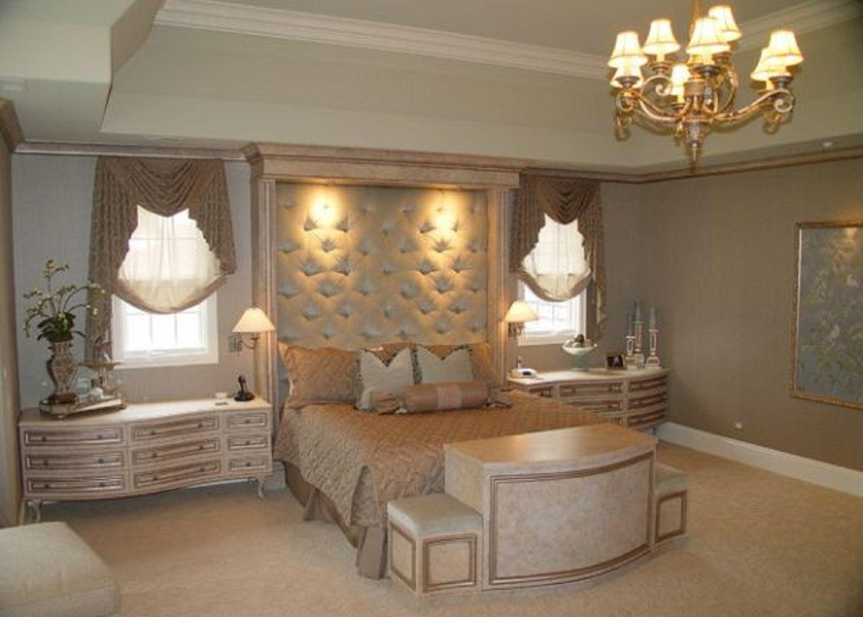 Gold luxurious Hollywood regency bedroom