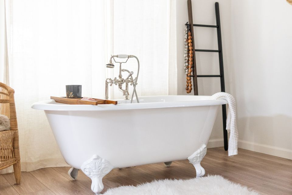 clawfoot tub in a bathroom