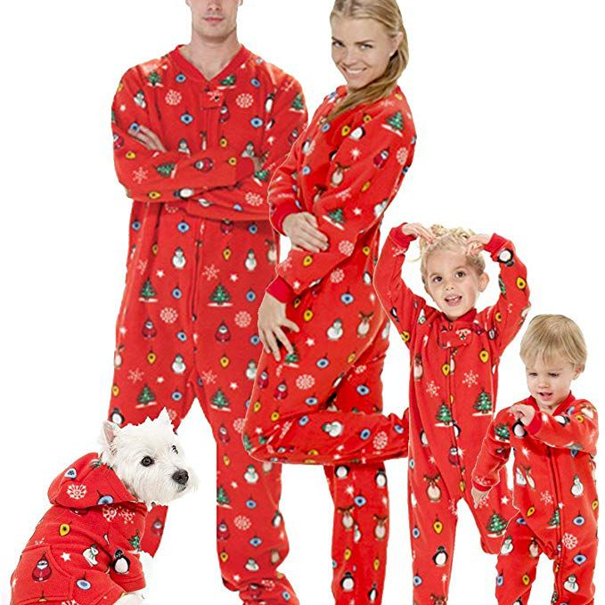 PajamaGram Snowfall Plaid Matching Family Pajama Set