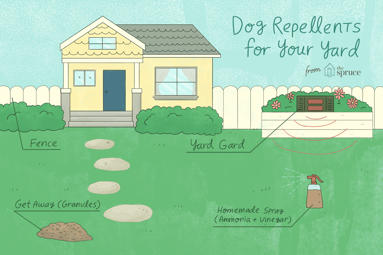 ways to repel dogs from your yard