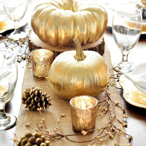 gold thanksgiving table