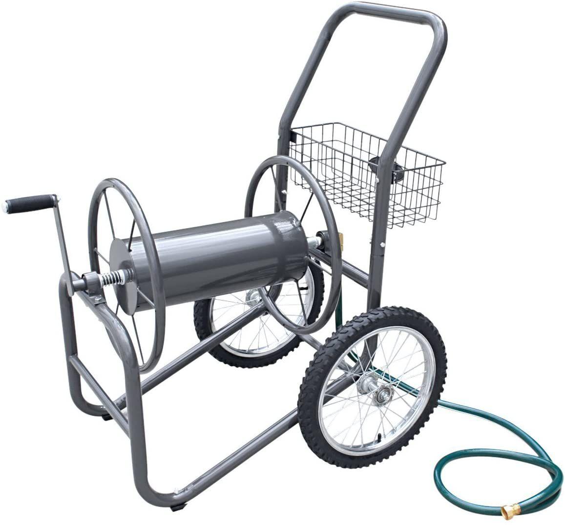 Liberty Garden 300 ft. 2-Wheel Industrial Hose Cart