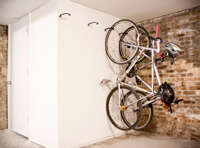 Store Bikes Up a Wall