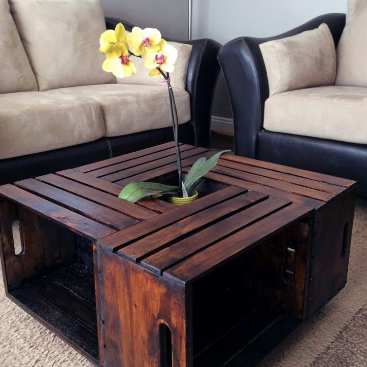 How to make a wooden crate coffee table