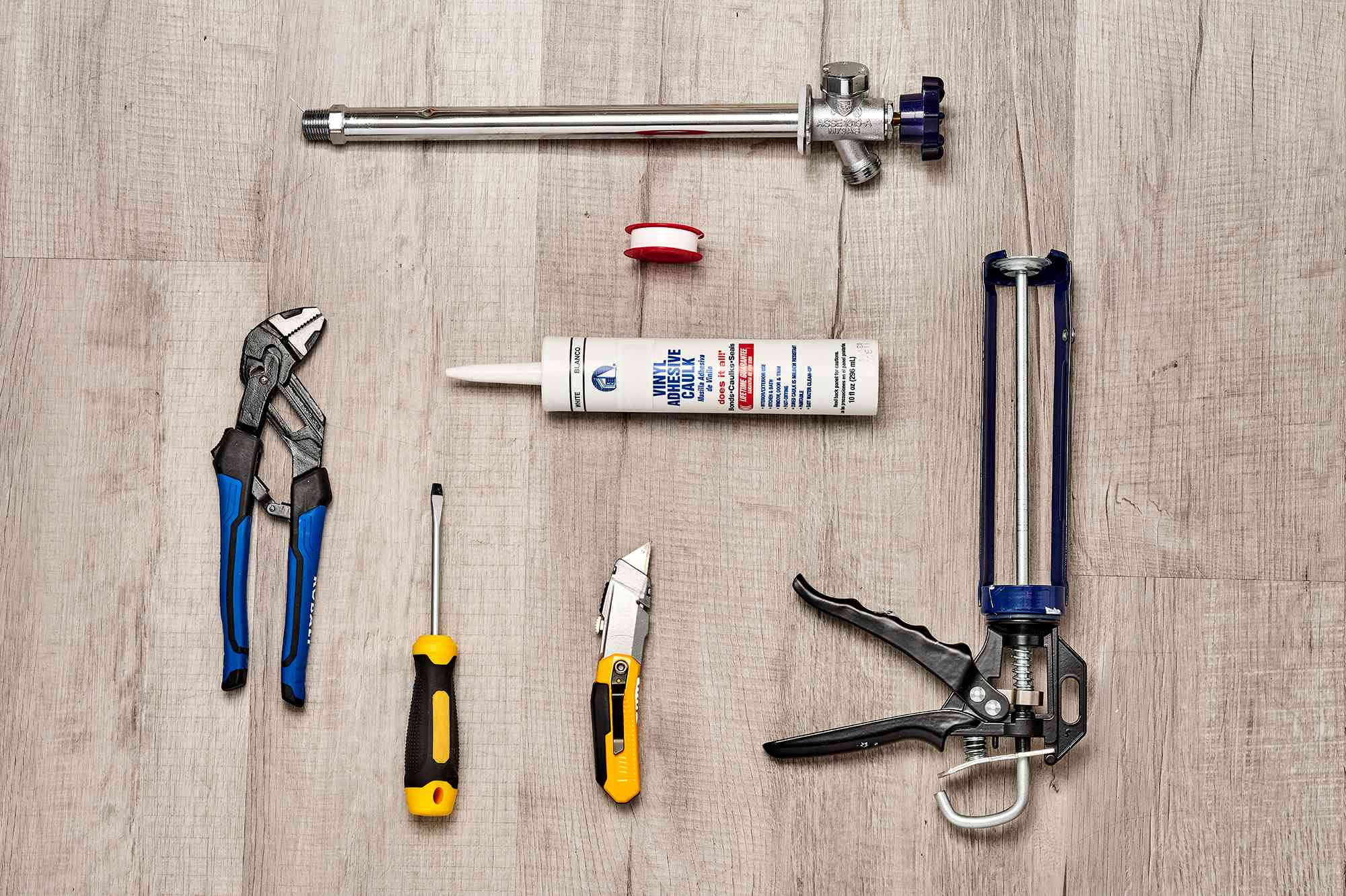 Materials and tools to replace a faucet-free faucet