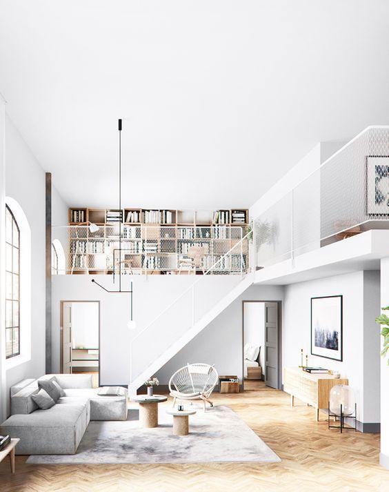 Modern open plan loft space