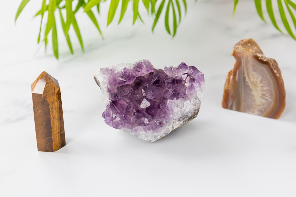 trio of crystals