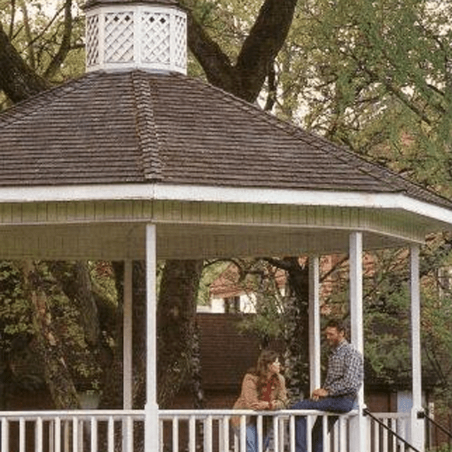 Picture of a man and women in a gazebo