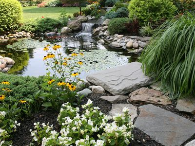 get inspired 25 gorgeous pond waterfall designs - Garden Waterfalls