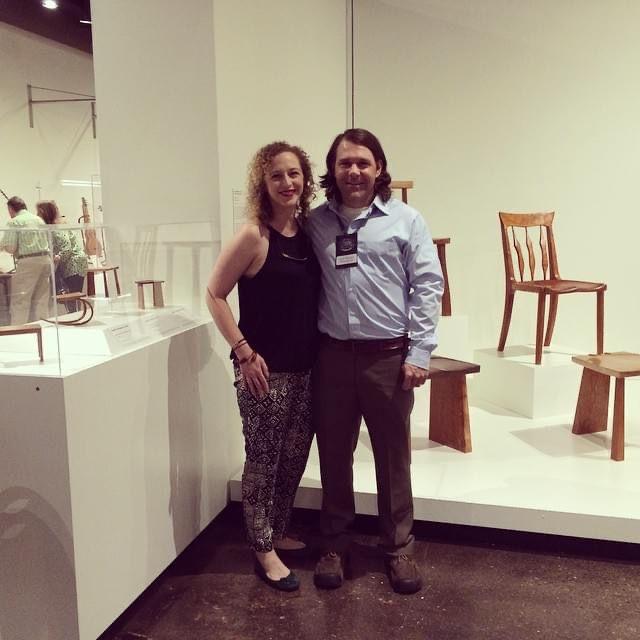 Katie and Joseph exhibiting their work