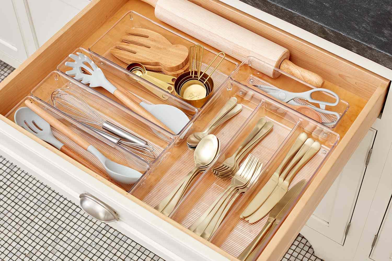 Drawer of kitchen silverware