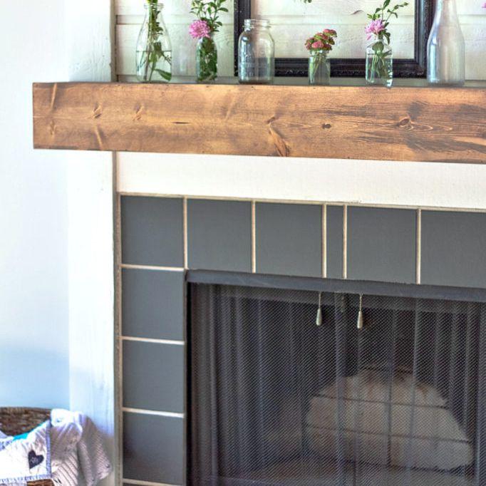Diy Fireplace Mantel Plans, Build Mantle Around Gas Fireplace