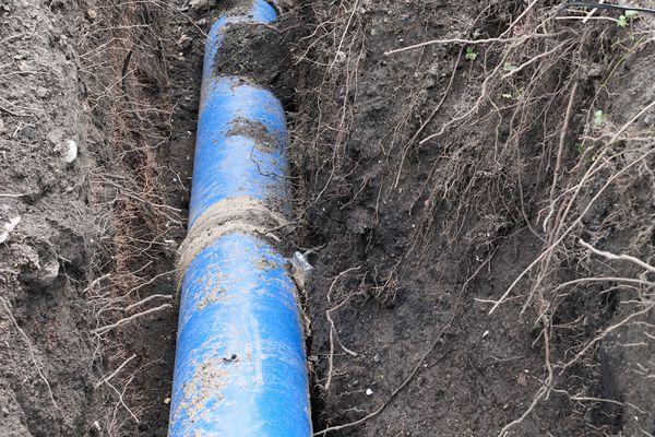 Large underground pipe