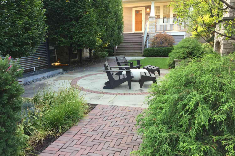 diseño del paisaje del patio delantero