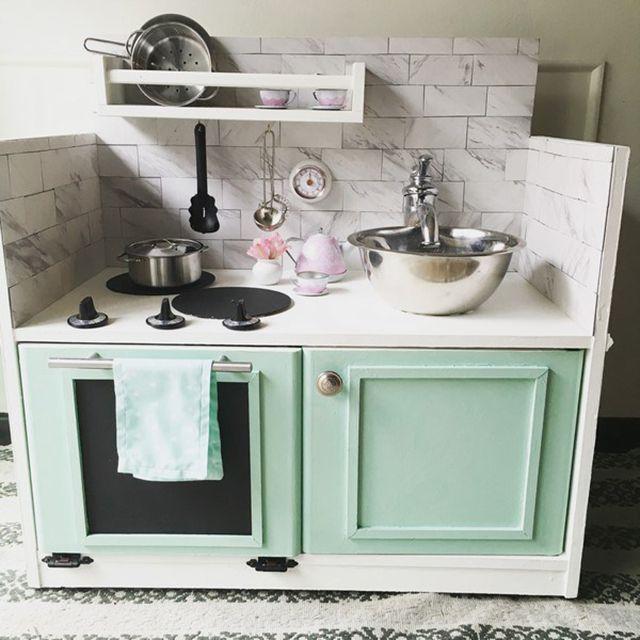 upcycled diy play kitchen