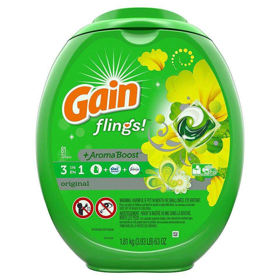 Gain flings detergent