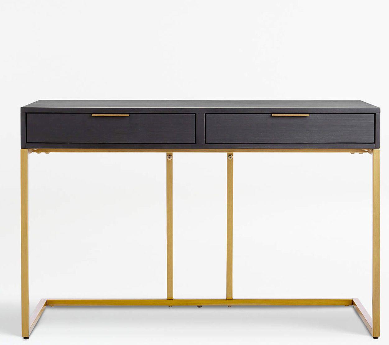 Oxford Black Small Storage Desk