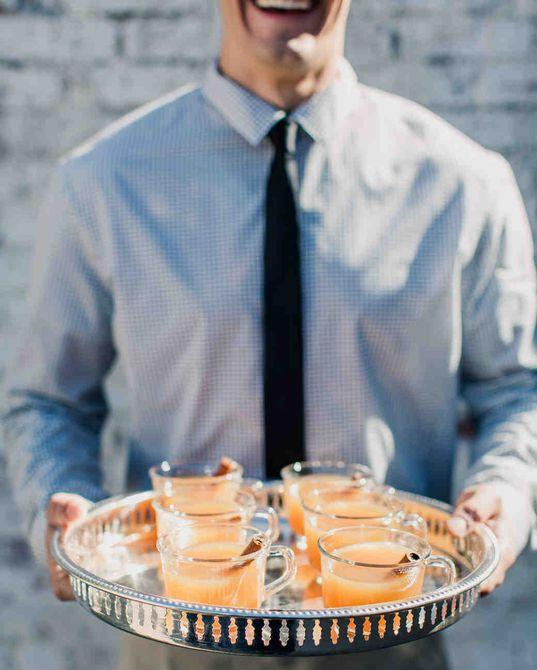 Bebida de la boda de sidra de otoño de sidra de manzana