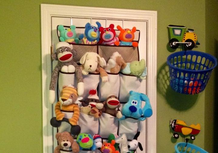Over-the-door stuffed animal storage