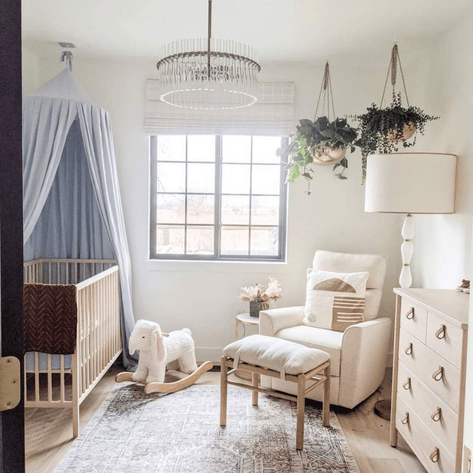 upscale, luxe nursery for a baby girl