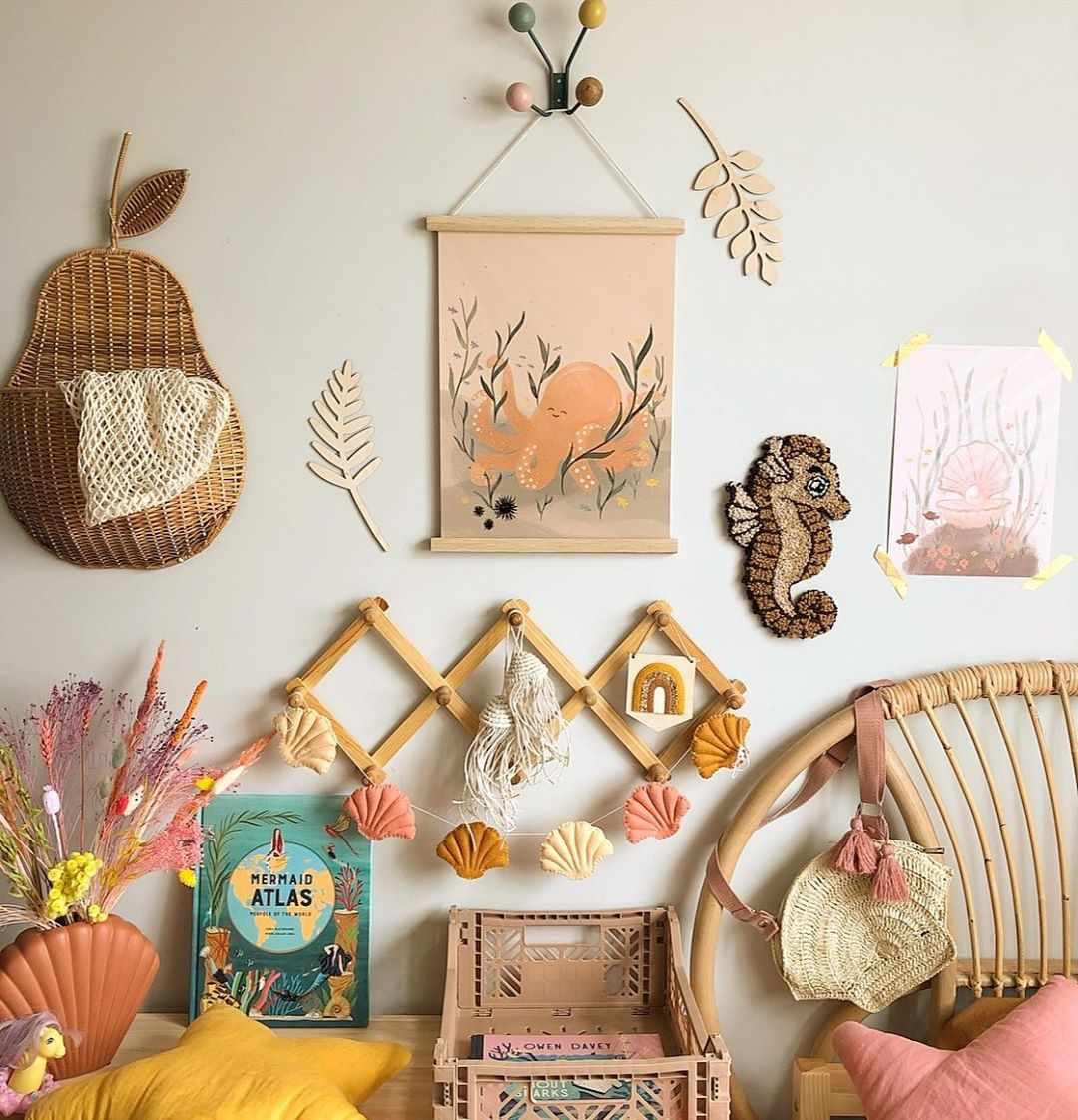 Eclectic nursery decor