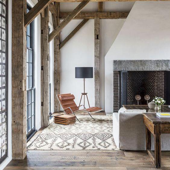 A modern farmhouse style living room