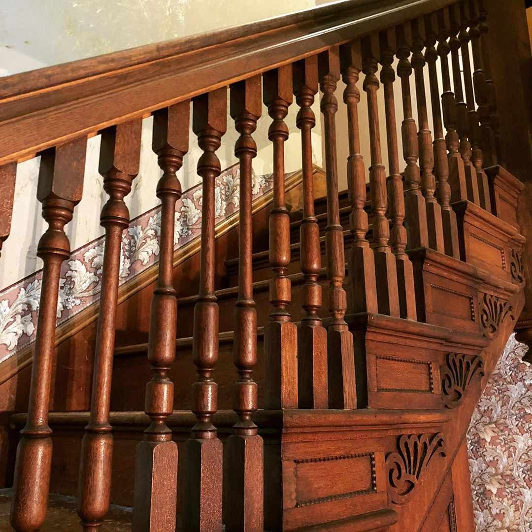 old house staircase