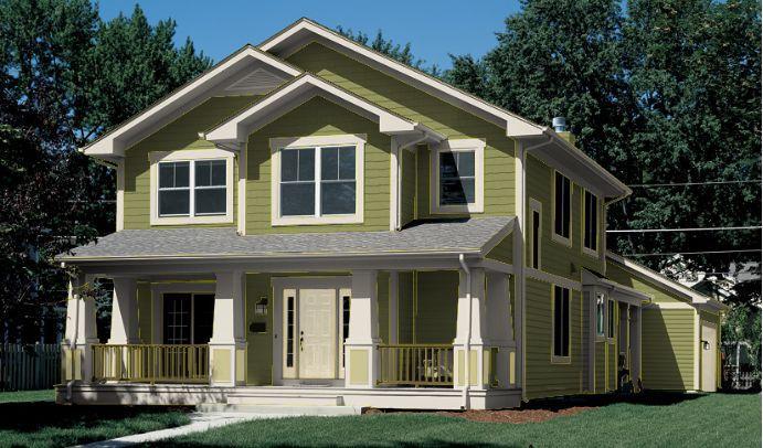 Colores de casa verde claro