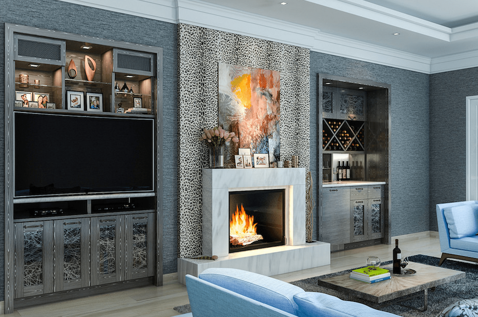 Living Room Decorating Ideas With Entertainment Center beautiful living rooms with built-in shelving