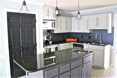 Painted Kitchen Cabinets Light And Dark